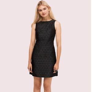 kate spade a-line jacquard dress